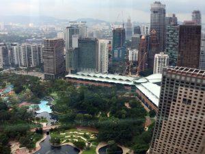 マレーシアの高層ビル群