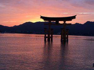 厳島神社の夜景