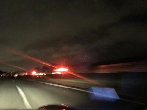 他県からの救助応援の消防車